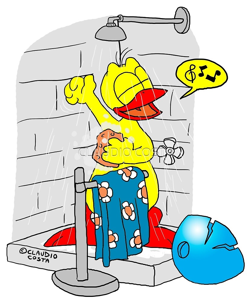 """Rick the chick """"SINGIN' IN THE SHOWER"""" by CLAUDIO COSTA"""