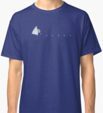 Small White Totoro Dropping Acorns - Two Colour Classic T-Shirt