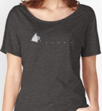 Small White Totoro Dropping Acorns - Two Colour Women's Relaxed Fit T-Shirt
