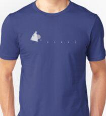 Kleine weiße Totoro fallende Eicheln - zweifarbig Slim Fit T-Shirt