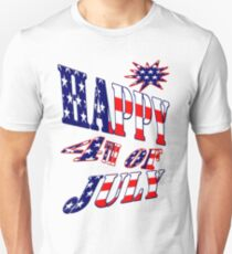 Happy 4th of July-  Art + Products Design  T-Shirt