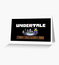 Undertale Charecters Group Greeting Card