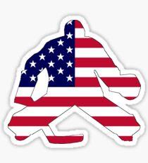 American Flag Goalie Sticker