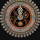 Infernal Steampunk Vintage Clock Face No.2 by Steve Crompton