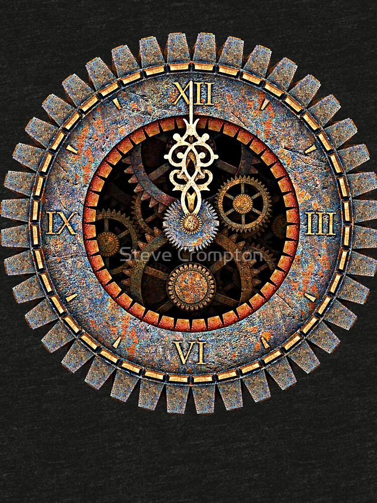 Infernal Steampunk Vintage Clock Face No.2 by SC001