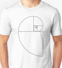 Golden Ratio Spiral - Sections Outline Slim Fit T-Shirt