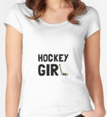 Hockey Girl Women's Fitted Scoop T-Shirt