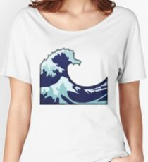 Water Wave Emoji Women's Relaxed Fit T-Shirt