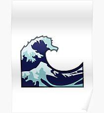 Water Wave Emoji Poster