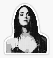 Megan ' s stern glance Sticker