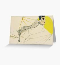 Egon Schiele - Reclining Boy. Schiele, Reclining Boy Greeting Card