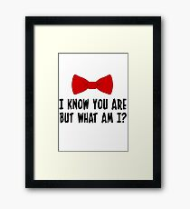 Pee Wee Herman - I Know You Are But What Am I? Framed Print