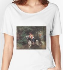 Ernst Bosch - A Safe Crossing. Ernst Bosch - girl portrait. Women's Relaxed Fit T-Shirt