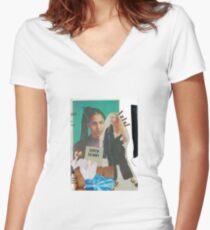 DAH LIAR Women's Fitted V-Neck T-Shirt