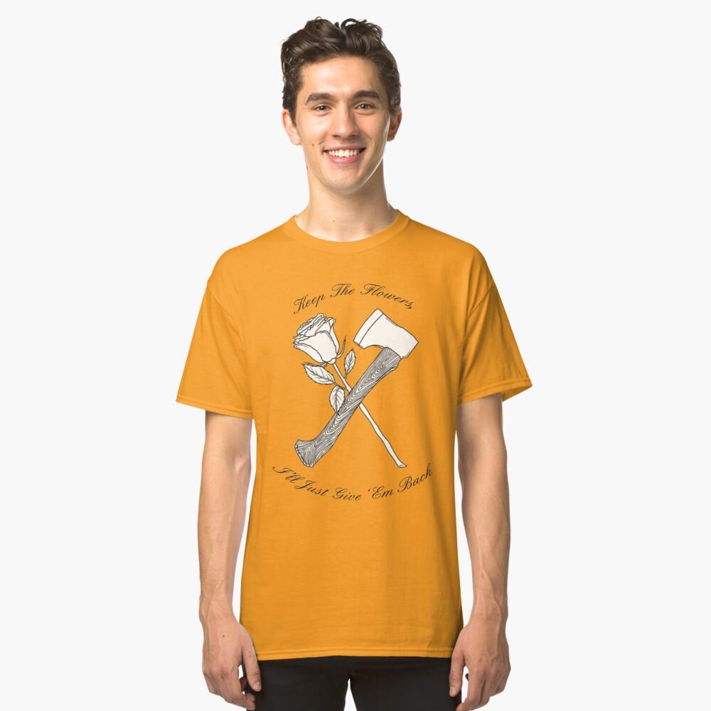 Foxy Shazam Axt und Blumen Classic T-Shirt