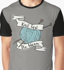 Knit Fast, Die Warm Graphic T-Shirt
