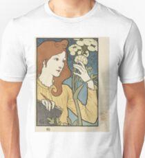 Eugene Samuel Grasset  - Salon Des Cent 1894. Eugene Samuel Grasset  - woman portrait. T-Shirt