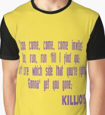 Killjoys theme in purple writing Graphic T-Shirt