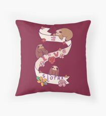 I Love Sloths Throw Pillow