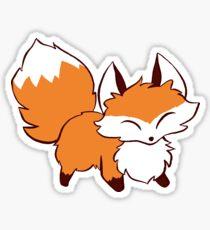 Fluffy Fox Sticker