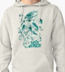 This Is Horror Green on White OctoTerror Pullover Hoodie