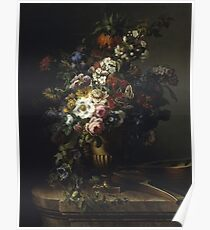 Francesc Lacoma Fontanet  - Gerro Amb Flors. Fragonard - still life with flowers. Poster