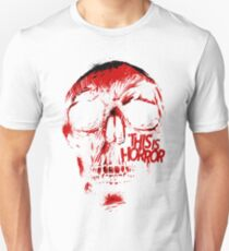This Is Horror Classic Red on White Skull Unisex T-Shirt