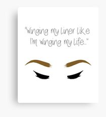 """Winging my liner..."" Canvas Print"