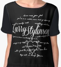 Larry Stylinson Quotes Women's Chiffon Top