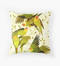Carolina Parakeet Throw Pillow