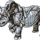 Mechanimal - Rhino by derangedhyena