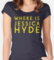 'Where is Jessica Hyde' from Channel 4's Utopia  Women's Fitted Scoop T-Shirt