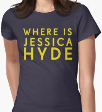 'Where is Jessica Hyde' from Channel 4's Utopia  Womens Fitted T-Shirt