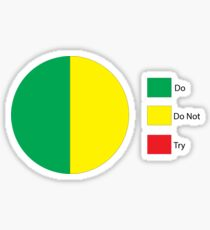 Do Or Do Not, There is No Try Pie Chart Sticker