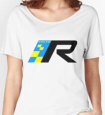Volvo R Design Racing Graphic BLK2 Women's Relaxed Fit T-Shirt