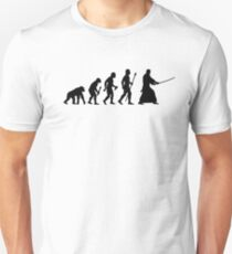Funny Evolution Of Kendo Unisex T-Shirt