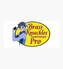 Brass Knuckles Pro Photographic Print