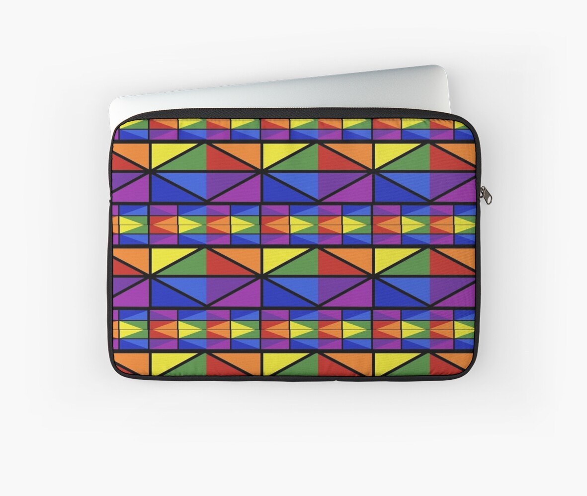 """Geometric Stained Glass Window Design"" Laptop Sleeves by ..."