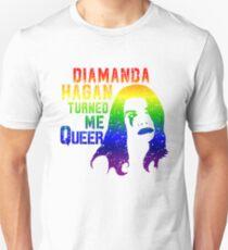 Diamanda Hagan Turned Me Queer (Rainbow) Unisex T-Shirt