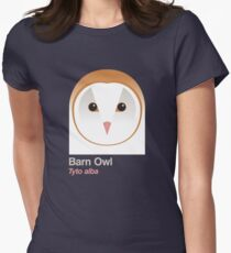 Barn Owl Women's Fitted T-Shirt