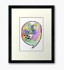 Speech Bubble Framed Print