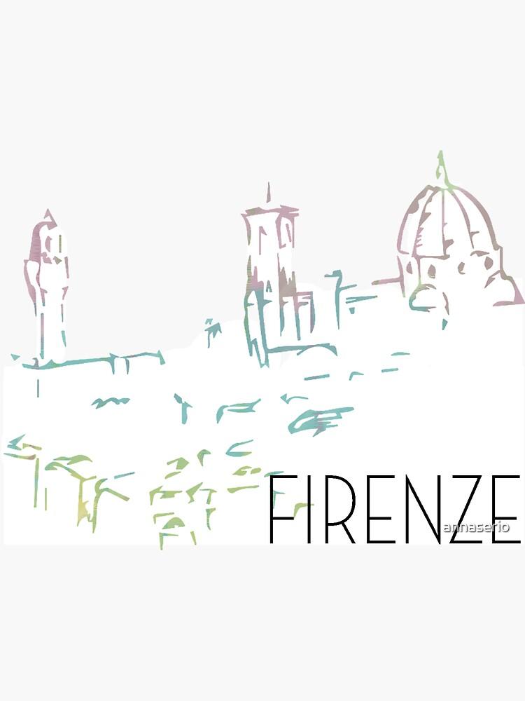 Florenz Pastell Stadtbild von annaserio