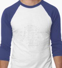Rhysand und Feyre ACOMAF (Blau) Baseballshirt mit 3/4-Arm