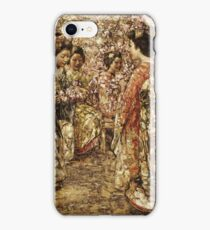 Edward Atkinson Hornel - Five Japanese Girls Among Blossoming Trees. Atkinson Hornel - woman portrait. iPhone Case/Skin