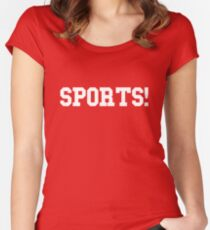 Sports - version 2 - white Women's Fitted Scoop T-Shirt
