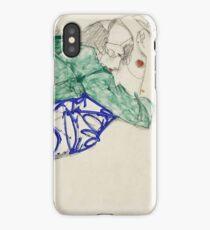 Egon Schiele - Two Friends, Reclining (Tenderness). Schiele - lovers. iPhone Case/Skin