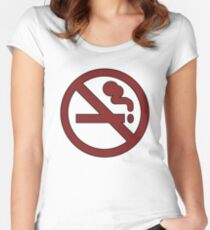 No smoking ~ Adventure Time Women's Fitted Scoop T-Shirt