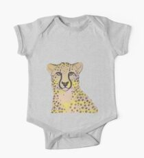 Peachy and yellow cheetah 2 One Piece - Short Sleeve