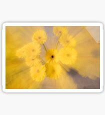 Yellow flower with zoom blur Sticker