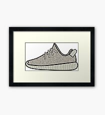 Yeezy Boost 350 Moonrock Framed Print